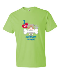 I Love my Australian Shepherd Dog T-Shirt