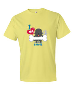 I Love my Barbet Dog T-Shirt