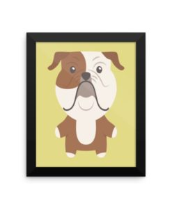 English Bulldog Framed Poster