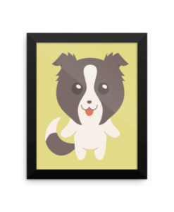 Border Collie Framed Poster