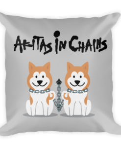 Akitas In Chains Pillow