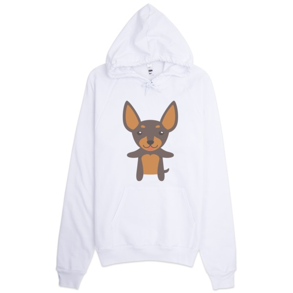 Men's Clothing Clothes, Shoes & Accessories New Cotton Grey Hoodie Miniture Pinscher