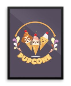 Pupcone Framed Poster